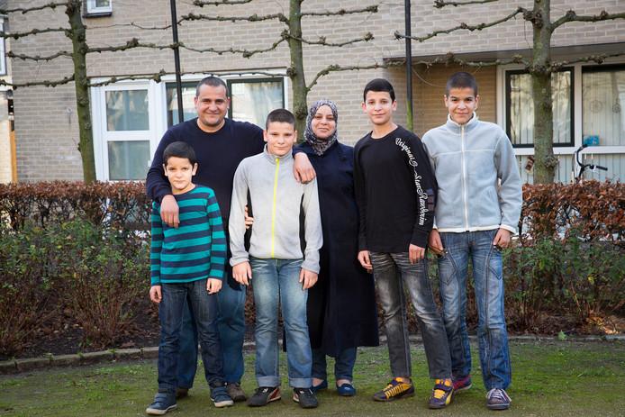 De familie Alhariri bestaat uit Syrische vluchtelingen, ze wonen nu in Etten-Leur.
