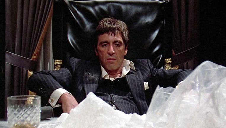 Al Pacino als Tony Montana in Scarface. Beeld null