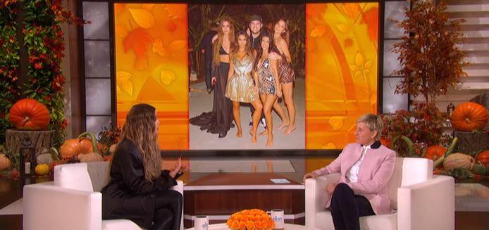 Khloe Kardashian bij The Ellen Show.