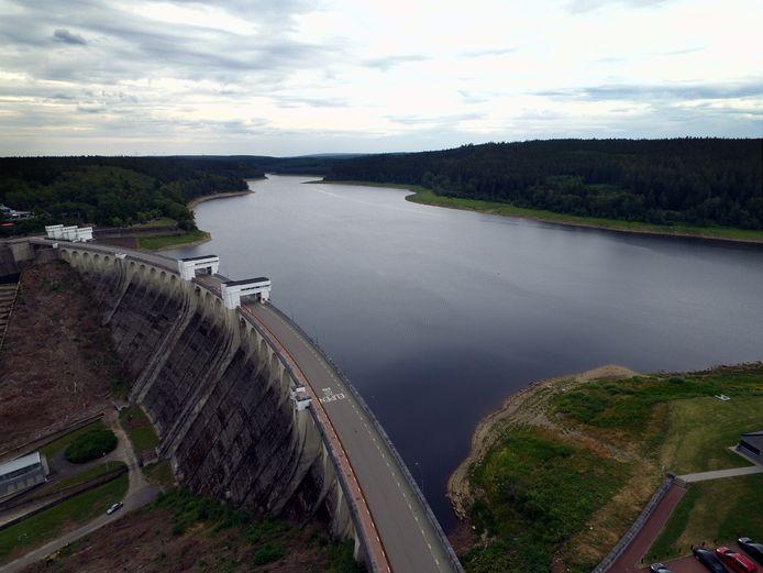 De Vesder-dam in Eupen op 18 juli. Er zou te laat beslist zijn om deze te openen.