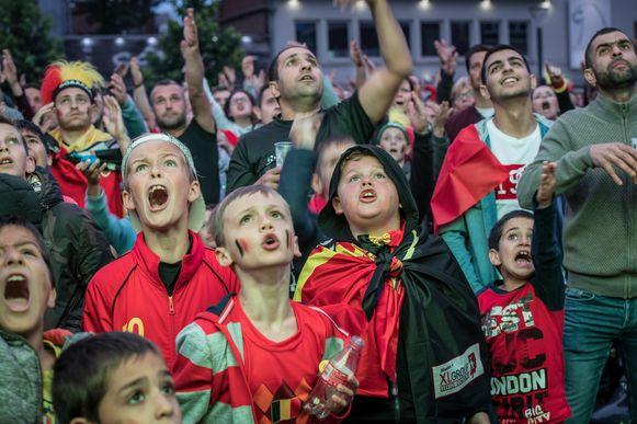 In 2018 leefde een overvol Polenplein mee met alle matchen van de Rode Duivels