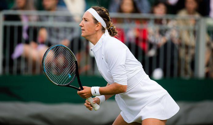 Victoria Azarenka op Wimbledon.