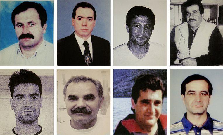 Acht van de slachtoffers. Beeld afp