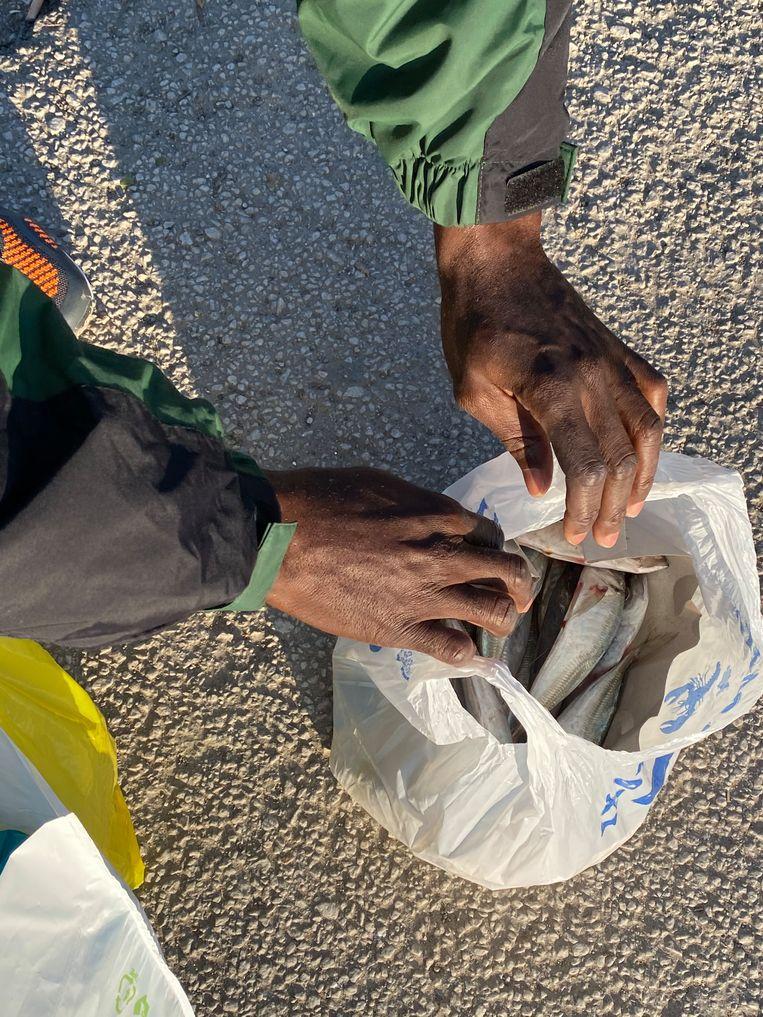 De tas van Guylain (27) uit Congo Beeld Thijs Kettenis