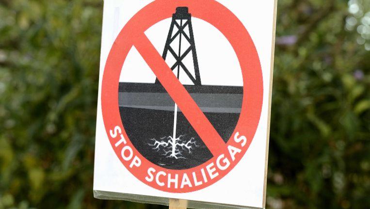 Een bord met de tekst Stop Schaliegas in de gemeente Boxtel. Beeld ANP