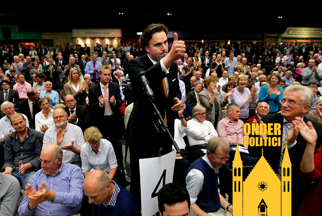 Het tumultueuze partijcongres van het CDA in 2010.