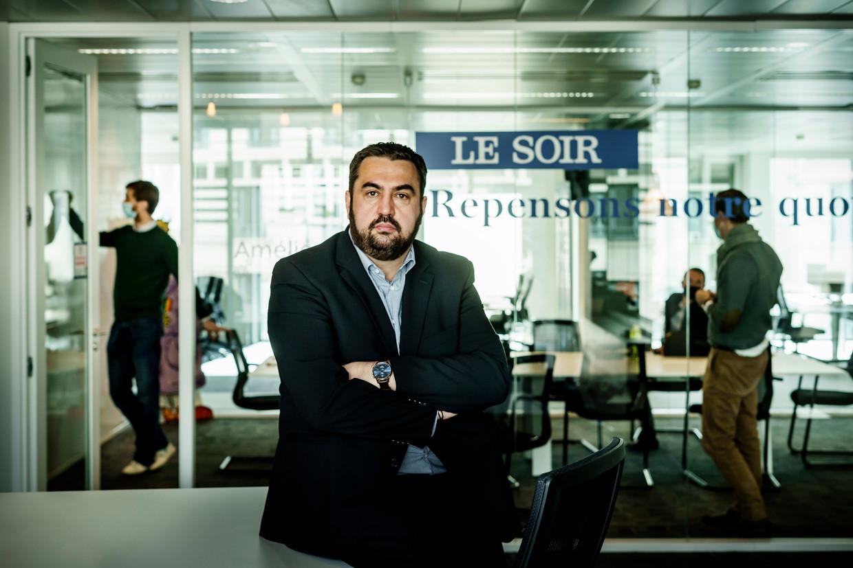 'Le Soir'-hoofdredacteur Christophe Berti: 'Onze groei zit bijna volledig digitaal. En daar ben ik nog het meest blij mee.' Beeld © Eric de Mildt