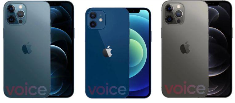 De drie versies van de nieuwste iPhone 12. Beeld 9to5Mac