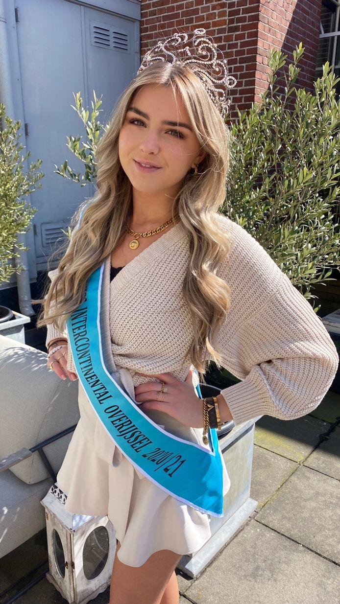 Floor de Haan uit Oldenzaal mag als Miss Intercontinental of Overijssel deelnemen aan de landelijke finale van deze verkiezingen.