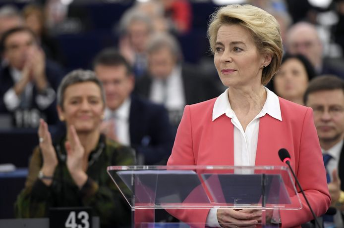 Ursula von der Leyen, de Duitse voorzitter van de nieuwe Europese Commissie, heeft vanochtend in het Europees Parlement het werkprogramma van haar Commissie voorgesteld.