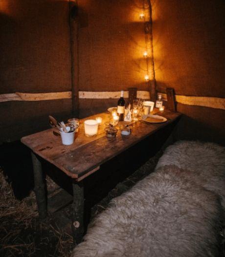 L'escapade insolite et romantique: on dort dans un B&B de luxe mais on mange dans une hutte privée à la lueur des bougies