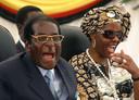 Robert en Grace Mugabe in 2008.