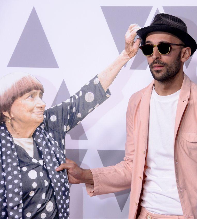 Agnès Varda en JR. Beeld Photo News