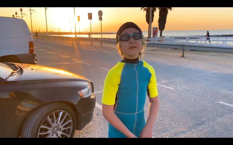 Joaquín gaat stiekem weer zwemmen Beeld Maaike Bos