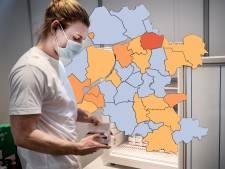 KAART | Weinig nieuwe besmettingen in Oost-Nederland: slechts één gemeente kleurt oranje