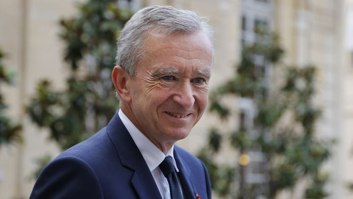 Bernard Arnault, bestuursvoorzitter van LMHV (Louis Vuiton Moët Hennesy), het grootste conglomeraat ter wereld van luxeproducten.