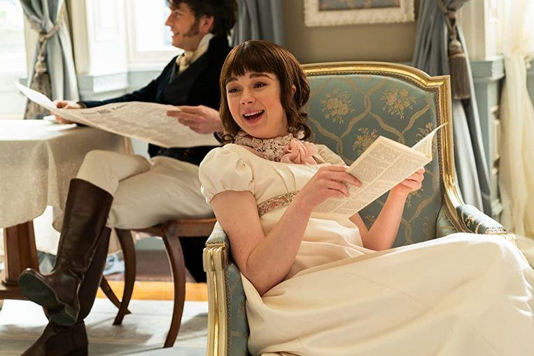 Eloise Bridgerton (Claudia Jessie) in de reeks 'Bridgerton'. Beeld Rv