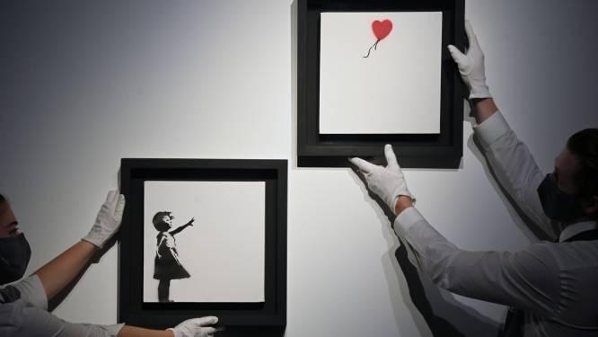 'Girl with Balloon' van Banksy geveild voor 3,1 miljoen pond