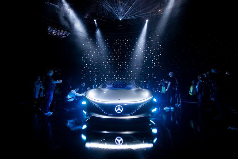 Conceptauto AVTR van Mercedes-Benz. Beeld EPA