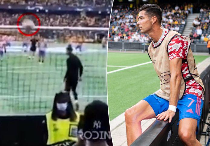 Ronaldo raakte de steward vol op het achterhoofd.
