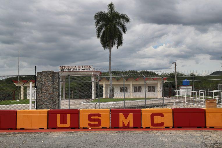 De Amerikaanse marinebasis en gevangenis voor terreurverdachten in Guantánamo (Cuba).  Beeld Getty Images