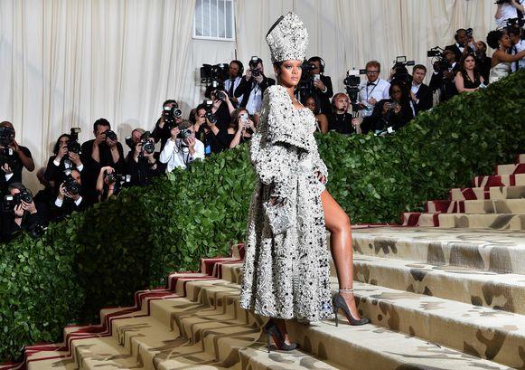 Rihanna vorig jaar op het Met Gala.