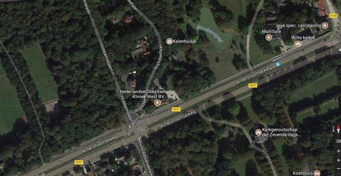 De plek waar de jas van Anne gevonden is, langs de Amersfoortseweg ter hoogte van de Hobbemalaan.