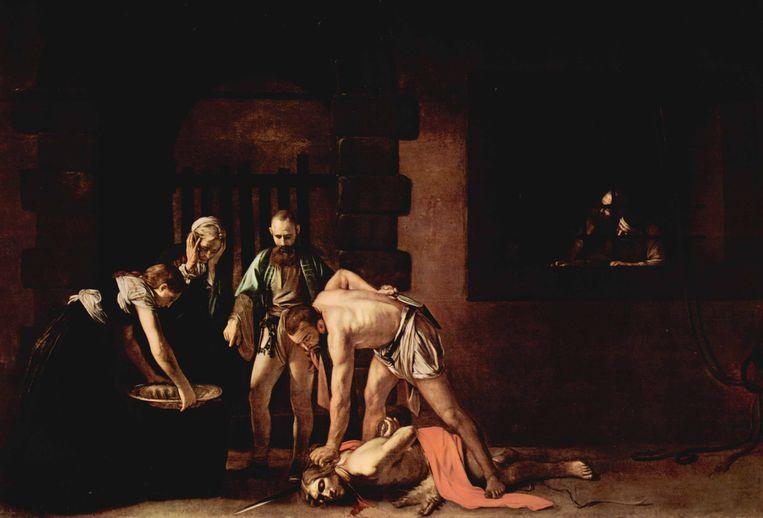 'De onthoofding van Johannes de Doper' van Caravaggio (1608). Beeld rv