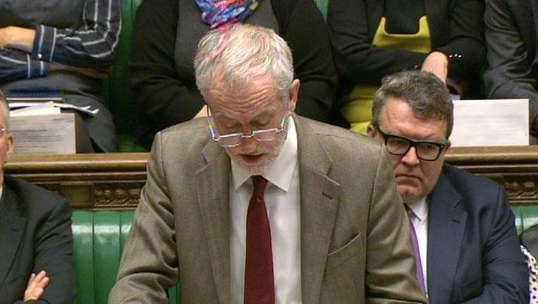 Jeremy Corbyn aan het woord eerder deze week. Beeld EPA