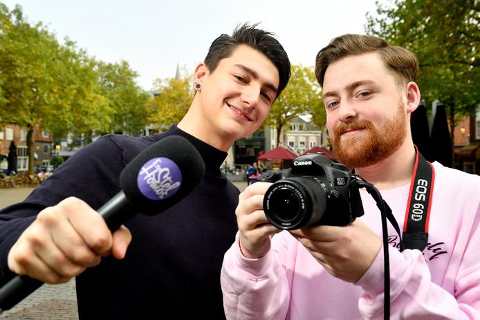Rogier Sluijter (20, links) en JasperKoekoek (22) willen met hun video's bewustzijn creëren.