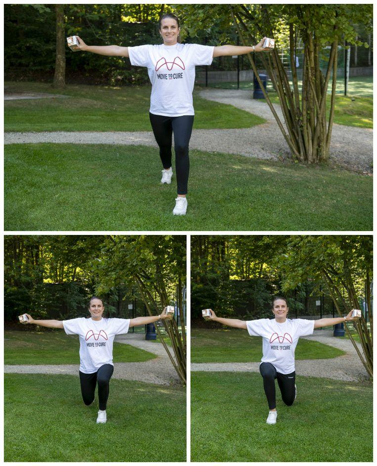Jumping lunges. Beeld Carline Vandercruyssen