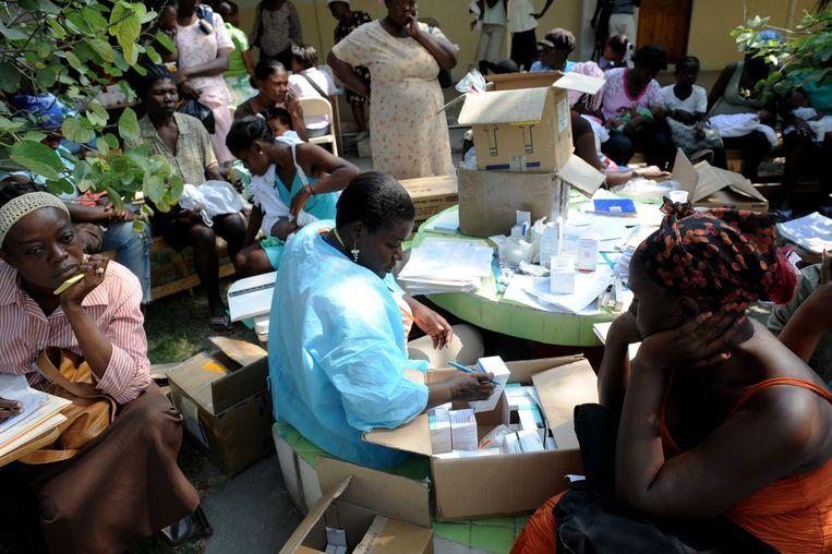 Een aidskliniek in Haïti. Beeld AFP
