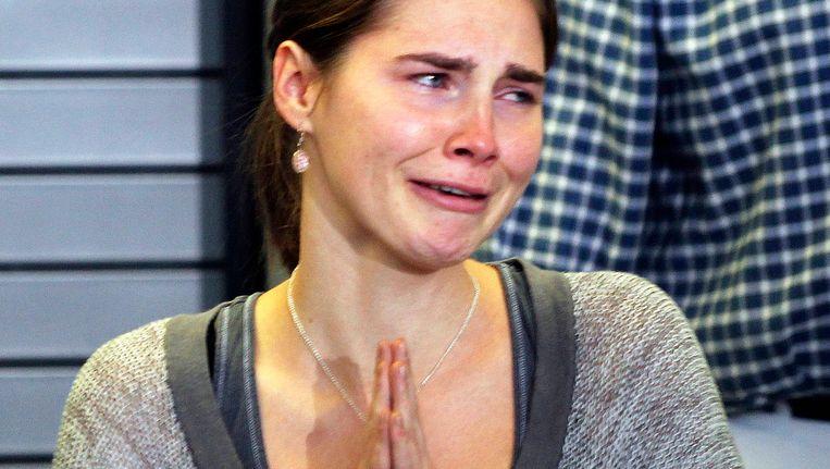 Amanda Knox vlak na haar vrijspraak. Beeld REUTERS