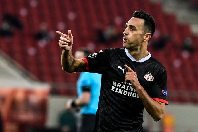 Eran Zahavi scoorde twee keer voor PSV, maar tot een goed resultaat leidde dat niet.