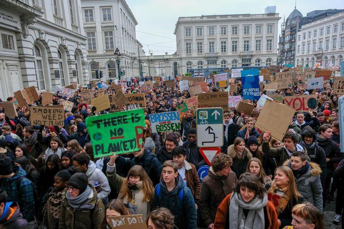 Net zoals in Brussel gaan de Leuvense leerlingen de straat op morgen.