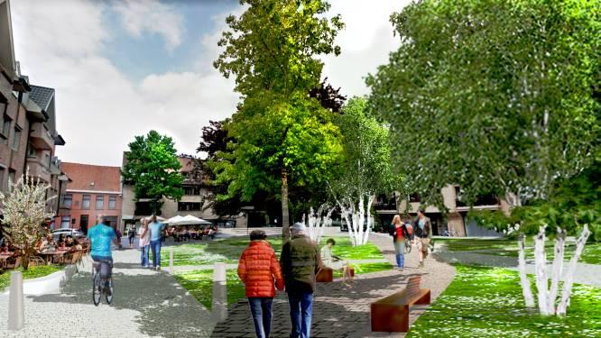 """Izegem vormt Melkmarkt om tot verkeersluw en groen pleintje: """"Rustplek temidden van de stad"""""""