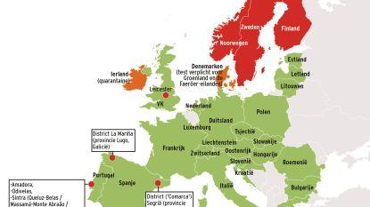 Zweden nu ook rode zone op coronakaart