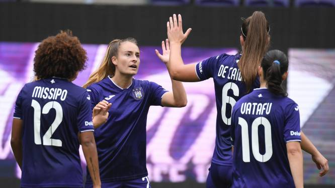 10-0: Tessa Wullaert blinkt uit met zes goals voor Anderlecht Women tegen KRC Genk