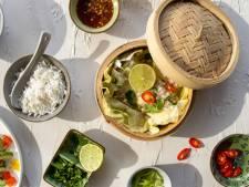 Wat Eten We Vandaag: Gestoomde roodbaarsfilets met frisse komkommersalade