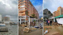 """Storm houdt lelijk huis in Spaanse vakantieplaats Calpe, Vlamingen getuigen: """"In negen jaar nog nooit meegemaakt"""""""