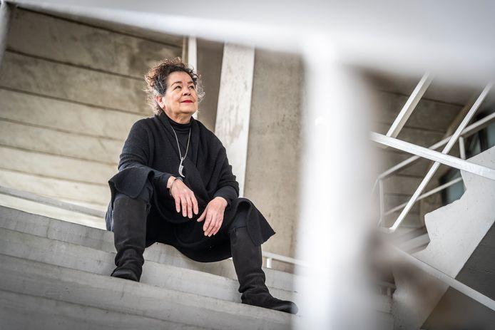 Aïda Spaninks, oftewel dj Lady Aïda, bij het Evoluon in Eindhoven.