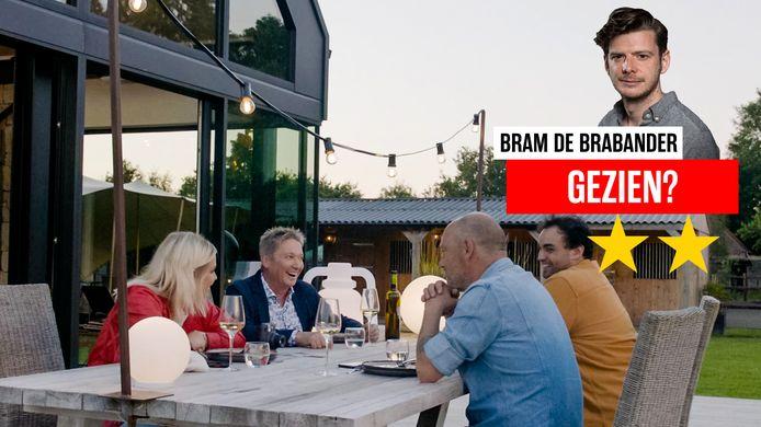 Julie Van den Steen, Bart Kaëll, Dominique Persoone en Kamal Kharmach in de eerste aflevering van 'Waarheid, Durven of Doen'.