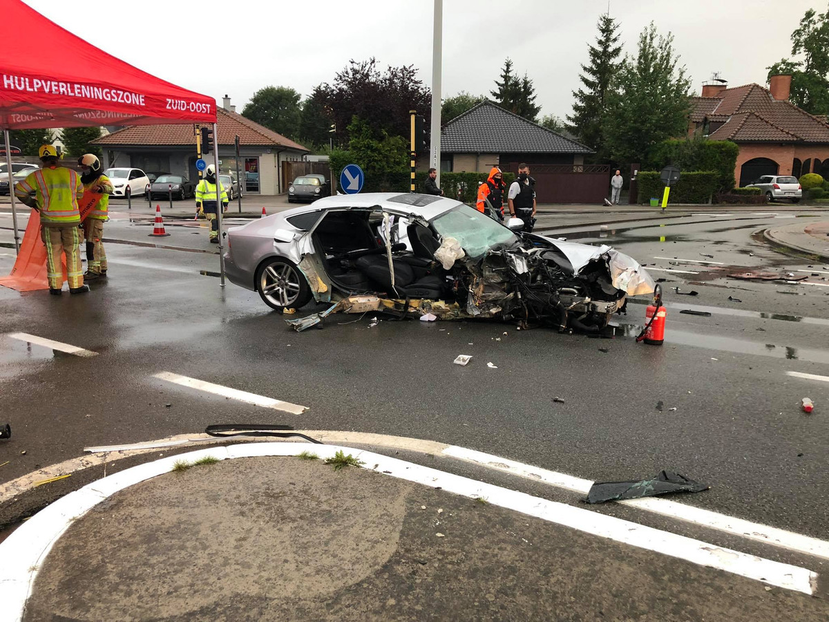 De ravage na het ongeval was bijzonder groot.