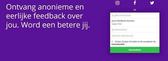 Nederlandse versie van de feedback-app Say at.me