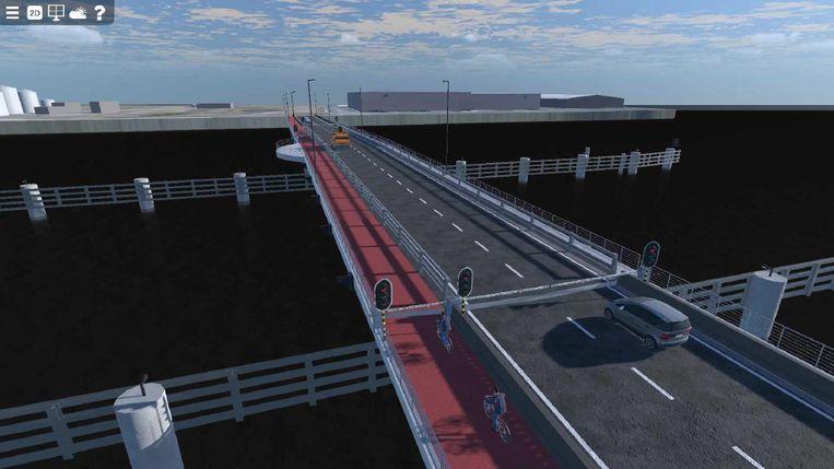 De nieuwe brug over het Verbindingsdok in Zeebrugge zal er zo uitzien.