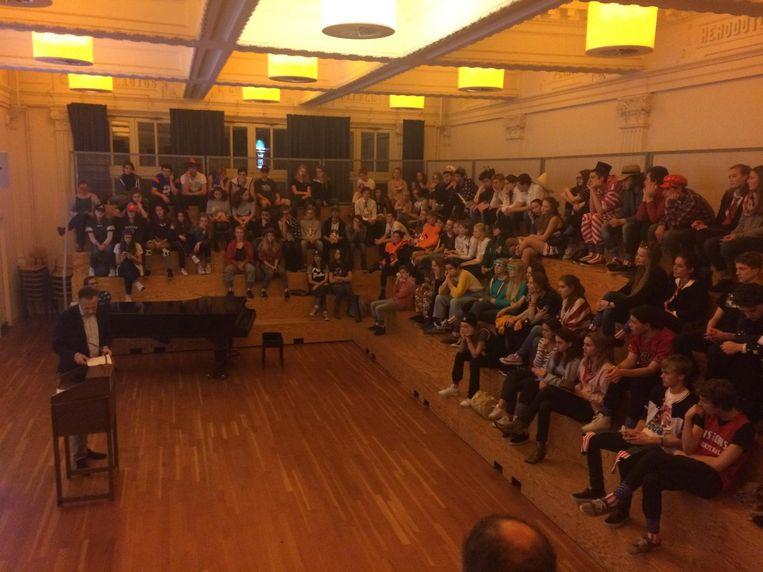 Verkiezingsavond op het Barlaeus Gymnasium Beeld Laura Obdeijn