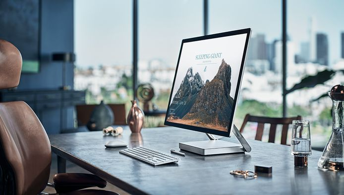 Microsofts nieuwe Surface Studio-pc.
