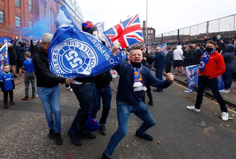 Rangers veroverde de eerste landtitel nadat het tien jaar geleden failliet werd verklaard. Beeld Reuters