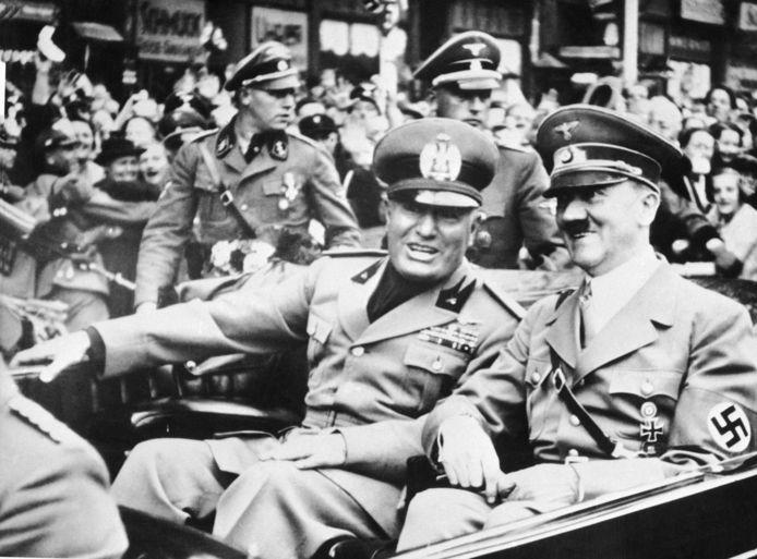Benito Mussolini et Adolf Hitler (28 septembre 1938)
