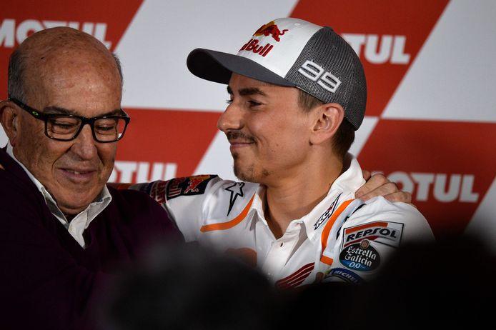 Dorna-CEO Carmelo Ezpeleta en Jorge Lorenzo.